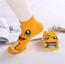 1Pair Pokemon Pikachu Socks Ankle Trainer Shoe Liners For Women Kids