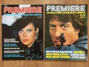 """1976 : Magazine """"Première"""" n°1 à 4 - TRES BON ETAT"""