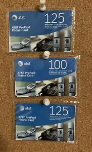 AT&T Prepaid Phone Cards (3 Pack) - New! - 350 Total Minutes