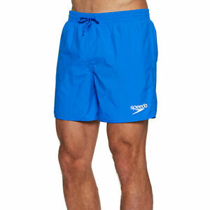 MENS SPEEDO SOLID ESSENTIAL SWIMMING SHORTS TRUNKS COBALT BLUE HOLIDAY GYM FIT