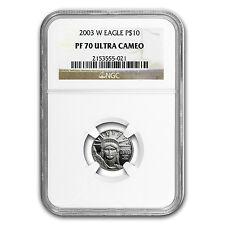 2003-W 1/10 oz Proof Platinum American Eagle PF-70 NGC - SKU #66845
