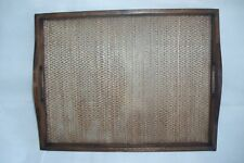 TEAK WOODEN CURVED EARS TRAY