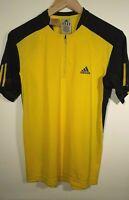 Mens Adidas Climacool Yellow And Black Sports T-Shirt Jersey Size Small/Medium