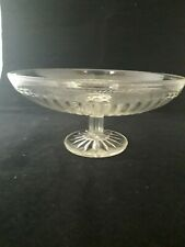 """DOLLHOUSE MINIATURE Cranberry Glass /""""Tazza Footed Plate/"""" #73 Less than 1/"""" TALL!"""