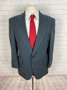 Adams Row Men's Solid Gray Suit 40R 31X26 $395