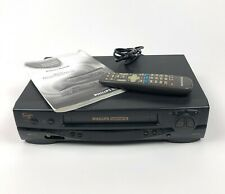 Philips Magnavox VCR Plus 4 Head Recorder Tested w/ Remote & Manual VRZ244AT