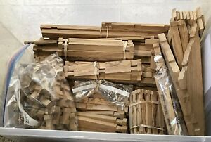 Large Lot Lincoln Square Logs Light Color Over 15 lbs Many Sizes Trusses