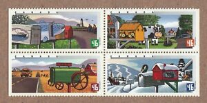 RURAL MAILBOXES COW TRACTOR GOOSE FISH = Canada 2000 # 1852a MNH BLOCK
