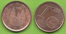 Espagne; 1 cent, 2012, 2ème série, pièce ayant circulé