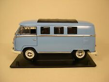 GREENLIGHT 1:18 SCALE DIECAST METAL BLUE 1962 VOLKSWAGEN VW MICROBUS MINIVAN