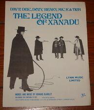 DAVE DEE DOZY BEAKY MICK & TITCH ~ XANADU LEGEND ~UK SONG MUSIC LYRIC SHEET 1968