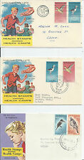 NEW ZEALAND HEALTH ISSUES COVERS VARIOUS YEARS AND POSTMARKS