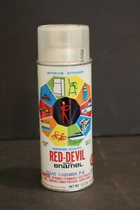 Vintage Red Devil Spray Enamel Paint Can Clear Varnish 716