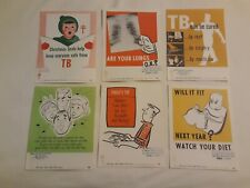 (6)-different 50's Vintage medical Christmas Seals Posters tb 8-1/2� X 11�