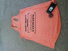 Fitwise Women's Sleeveless  T-Shirts Regular Fit Fashion Wear Gym Tops orange
