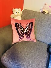 butterfly cushion cover pillow throw with shiny stones