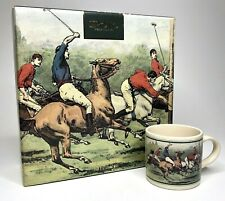 Vintage Ralph Lauren 1978 Polo Player Thoroughbred Horse Coffee Mug Box Set of 4