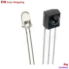 IR Emitter and Receiver- 38KHz - TL1838 / 4838  - 5mm LED PhotoDiode - CanHobby