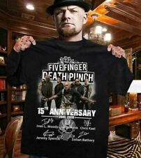 Five Finger Death Punch 15th Anniversary Signatures T-shirt