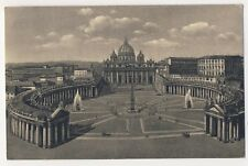 Vintage Postcard - Citta Del Vaticano - Piaxxa e Basilica de S P - Unposted 2503