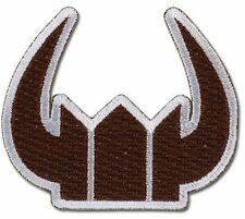 **License** Black Rock Shooter SD Black Gold Saw Crown Iron On Patch #44534