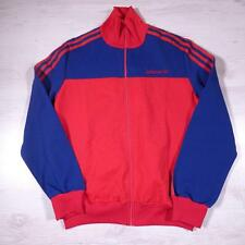 ADIDAS Vintage 1990's Blue Retro Polyester Tracksuit Top Jacket Small #B2363