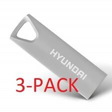[BRAND NEW] Hyundai 32GB Bravo Deluxe USB Flash Drive Space Gray/Silver,  3 PACK