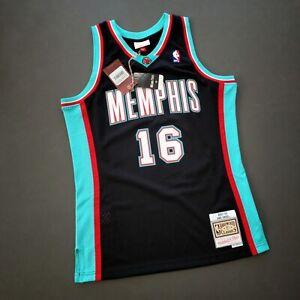 100% Authentic Pau Gasol Mitchell Ness Grizzlies Swingman Jersey Size L 44 Mens