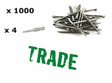 1000 S/Steel 304 8Gx50mm Trim Deck Screws DECKING MERBAU STAINLESS STEEL