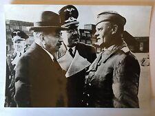ww2 photo press Laval et colonel Pauer  1944    B425