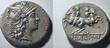 Ancient Roman Republic C. Servilius M.f. Silver Denarius 136 BC Rome