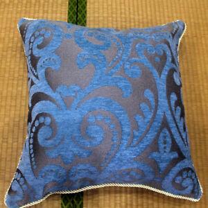Flocking Pillowcase Luxury Plaid Elegant Flower Home Sofa Car Cushion Cover Slip