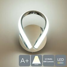 LED Wall Light and Sconce with Toggle Switch Polished Chrome Finish