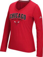 Mujer Chicago Bulls Doble Arco de Manga Larga Camiseta con Cuello en V NBA