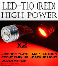 4x pc T10 LED High Power Red Direct Plugin Front Side Markers light bulb N257