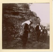 Algérie, Militaire avec appareil photo, 1898, Vintage citrate print Vintage citr