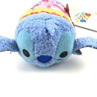 Disney Store Blue Aloha Hawaii Stitch Tsum Tsum Mini Plush Toy