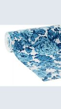 """The Pioneer Woman Heritage Floral Blue Non-Adhesive Drawer Shelf Liner 20"""" x 6'"""