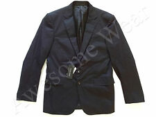 New Ralph Lauren Black Label Italy Black 97% Cotton Sport Coat Jacket Slim 42 R