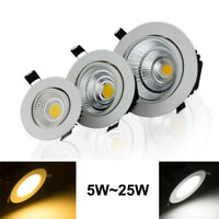 Dimmable Led Downlight COB Recessed Spot Lamp Ceiling Light AC110V 220V 9/15/18W