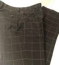 Dolce & Gabbana Square Print Trousers AW 17 Black Wool Cuff Italy Sz IT 52 US 34