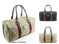 Ladies Women Travel 6095 /41412Patterned Duffle Gym Overnight Weekend Travel Bag