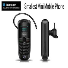 Tiny Smallest MINI Micro Mobile Cell Phone Unlocked GSM Sim Bluetooth Headset 2G