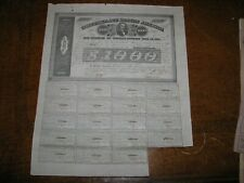 CSA Confederate States of America April 30 1863 $1,000 One Thousand Dollars Bond