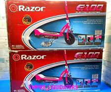 2 Handyman Razor E100 Electric Scooters With Rear Wheel Drive In Pink Sm1527
