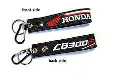 Honda CB300F CB 300F Tag Keychian Racing Biker Motorcycle Embroidered Key Chain