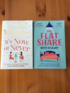 2 x Paperback Books - It's Now or Never and The Flat Share