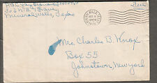 WWII military cover Pfc Jay Leonard nE 7th Ave Mineral Wells TX to NY