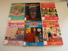 FRANCINE PASCAL LOT OF 6 SWEET VALLEY HIGH TWINS PAPERBACKS Chapter Books