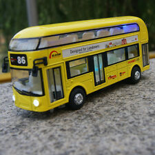 Tour London bus 1/48 Double Decker Sightseeing Diecast Car Model w/light&sound